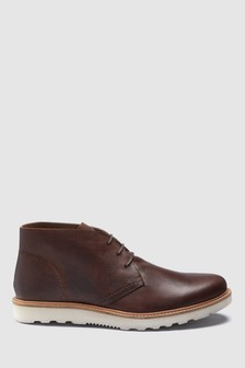 Leather Low Chukka Boot