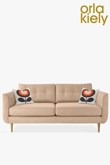 Orla Kiely Linden Large Sofa With Oak Feet