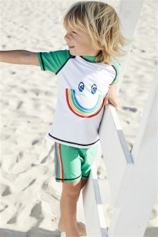 Rainbow Smile Sunsafe Two Piece Set (3mths-6yrs)