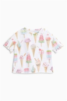 Ice Cream Print T-Shirt (3-16yrs)