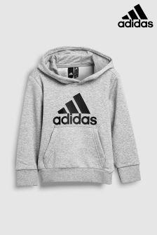 adidas Grey Stack Logo Hoody