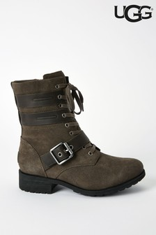 UGG® Zia Slate Lace-Up Mid Biker Boots