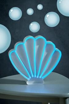 Neon Effect Mermaid Shell Feature Light
