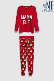 Womens Mama Elf Pyjamas