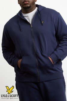 Lyle & Scott Plus Size Navy Zip Hoody
