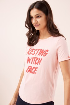 Футболка для Хэллоуина с надписью «Resting Witch Face»