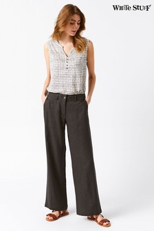 White Stuff Grey Burnwood Wide Leg Trouser