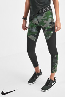 Nike Gold Camo 7/8 Training Leggings