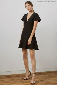 French Connection Black Flaired Dress