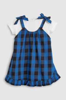 Gingham T-Shirt And Tunic Set (3mths-6yrs)