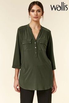 Wallis Green Longline Shirt