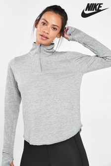 Nike Sphere Grey 1/2 Zip Running Top