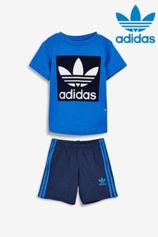adidas Originals Infant Blue T-Shirt and Shorts Set