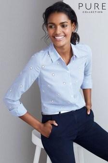 Pure Collection Blue Cotton Shirt