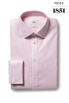 Moss 1851 Tailored Fit Pink Double Zero Iron Shirt