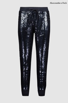 Abercrombie & Fitch Navy Sequin Jogger