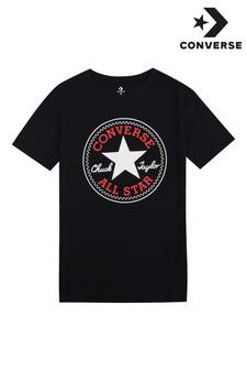Converse Boys Black Chuck Patch T-Shirt