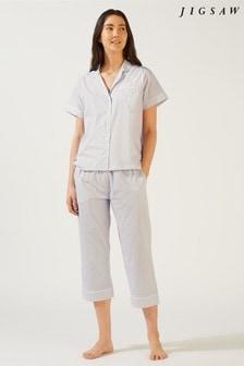 Jigsaw Alice Cropped Cotton Pyjamas