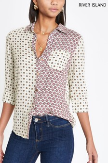 River Island Tile Print Button Shirt