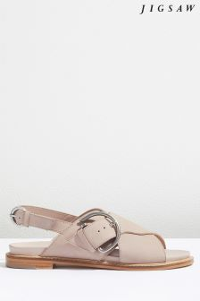 Jigsaw Pink Beaufort Buckle Footbed Sandal