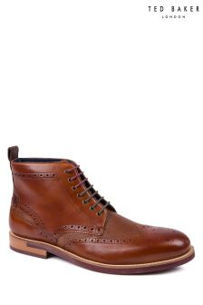Ted Baker Tan Hjenno Brogue Ankle Boot