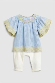 Blouse And Trousers Set (3mths-6yrs)