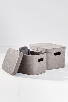Set of 2 Storage Boxes