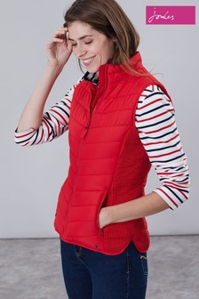 Joules Fallow Padded Funnel Neck Gilet