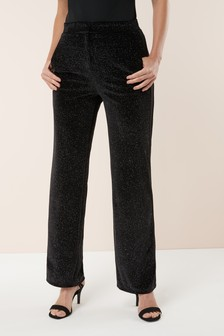 Sparkle Velvet Wide Leg Trousers