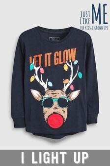Older Kids Christmas Let It Glow T-Shirt (3-16yrs)