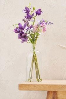 Pressed Glass Floral Vase