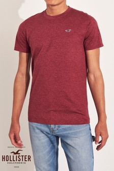 Hollister Red Texture T-Shirt