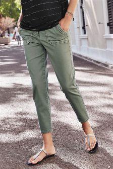 Укороченные брюки с пуговицами