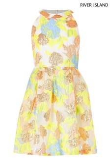 River Island Yellow Organza Prom Dress