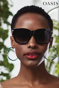 ceeaf5ff918 Oasis Black Mimi Soft Cat-Eye Sunglasses