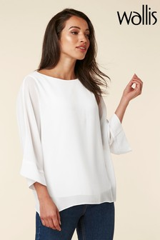 Wallis White Overlayer Top