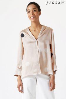 Jigsaw Pink Oversized Spot Shirt