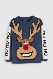 Christmas Reindeer Knit (3-16yrs)
