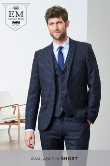 Skinny Fit Empire Mills Signature British Wool Suit: Jacket