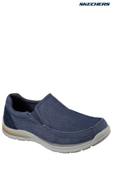 Skechers® Blue Lanson Revero Low Profile Knitted Lace Up