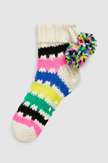 Pom Pom Slipper Socks (Older)