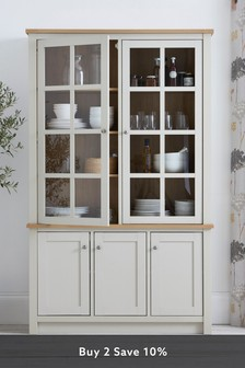 Malvern Cream Glazed Display Cabinet