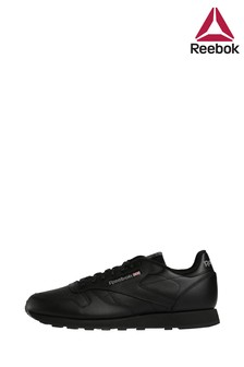 Reebok Black Classic Leather Trainer