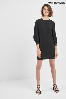 Whistles Black Tihara Dress