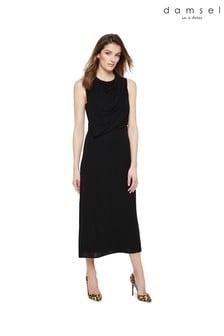 Damsel In A Dress Black Adaryn Cowl Neck Maxi Dress