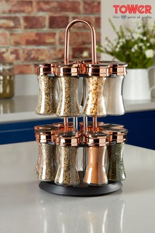 Tower 16 Jar Spice Rack