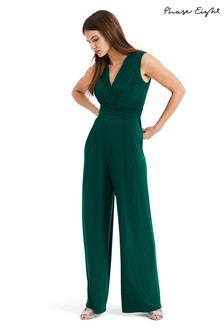 Phase Eight Green Isabelle Pleat Bodice Jumpsuit