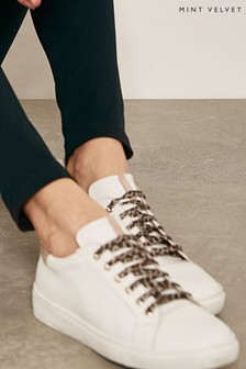 Mint Velvet Allie White/Nude Trainers