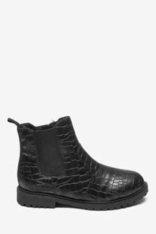 Croc Effect Chelsea Boots (Older)