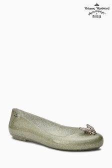 Vivienne Westwood Green Glitter Space Love Pump